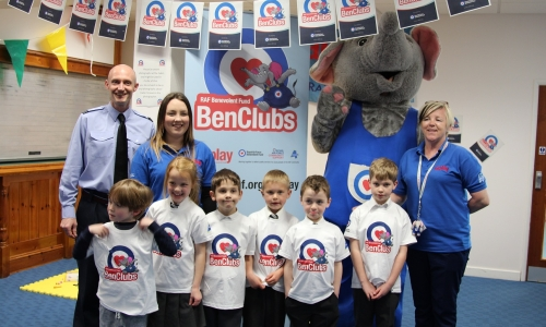 Ben Elephant helps open the Ben Club