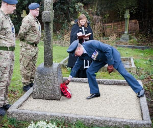 Service at the graveside of Major John Firth