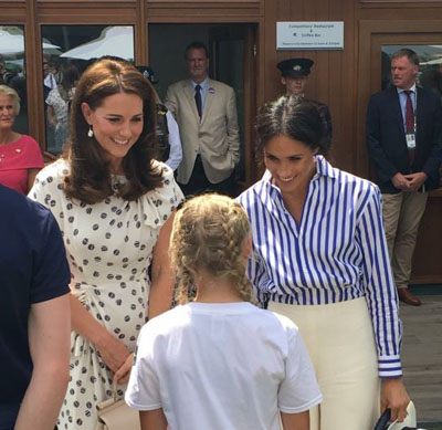 Tia Carter with the Duchess of Cambridge and the Duchess of Sussex