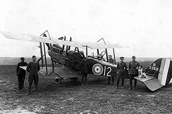 Members of 12 Squadron at an airfield